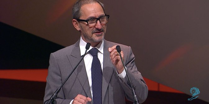 David Droga's Emotional Rallying Cry to the Ad Industry at Cannes Lions Centres on Caring